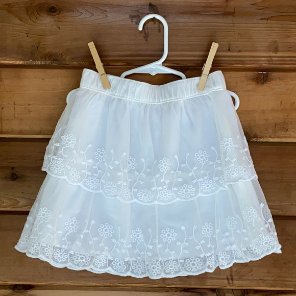 Carter's Lace Mesh Tiered Skirt